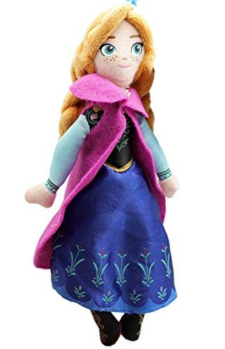 Disneys Frozen Anna Small Kids Plush Toy With Secret Pocket 8in