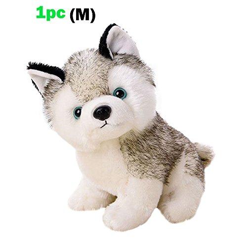 Husky Dog Baby Kids Plush ToysWhite and Gray3 Size for Choice Stuffed Animal Plush1pc