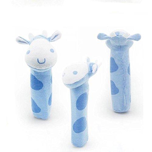 Kingfansion New Soft Animal Developmental Stuffed Infant Baby kids Plush Toys Rattles