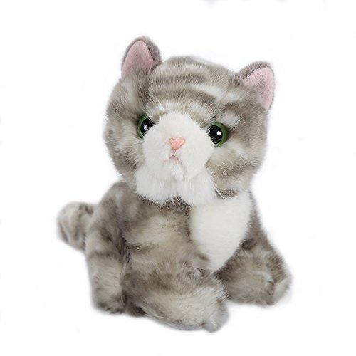 Lazada Realistic Gray White Stuffed Cat Baby Animal Dolls Kids Plush Toys 6