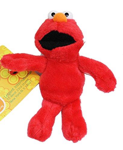 Sesame Streets Elmo Miniature Kids Plush Toy With Secret Pocket 4in