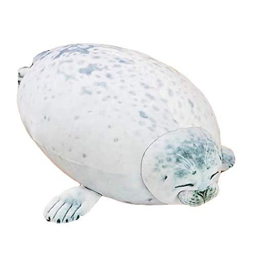 Lanren Simulation Seal Stuffed Toy Cute Seal Plush Toy Nursery Décor