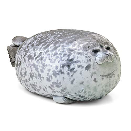 Leadzm Animal Pillow Chubby Seal Pillow Cute Seal Plush Toy Plush Cotton Cushion Animal