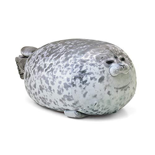 QIHONG Chubby Blob Seal Plush Toy Cuddle Animal PillowCute Ocean Pet Stuffed Doll for Kids Girls Gift