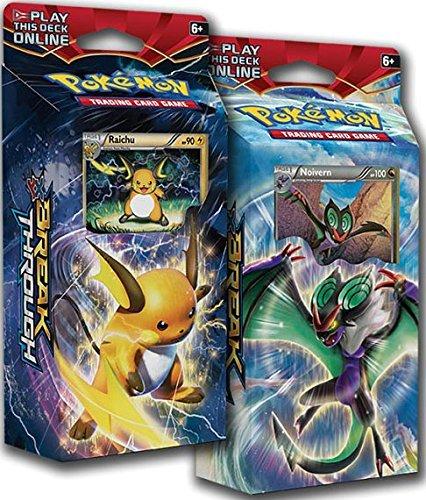 Pokémon 1 Pokemon Xy8 Breakthrough Theme Decks Raichu Noivern TCG English Card Game