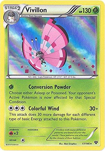 Vivillon - Meadow Pink Version XY 17146 Pokemon Card RareHolo-Foil