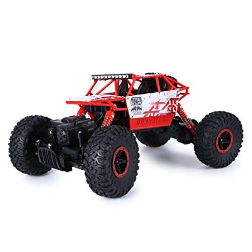 Toy RC Car CEStore 24Ghz 118 RC Racing Vehicle Toy Wireless Remote Radio Control Model Off-road Race Trunk Bigfoot Rock Crawlers High Speed Shockproof Four Wheel Drive RC Car Toy for KidsRed