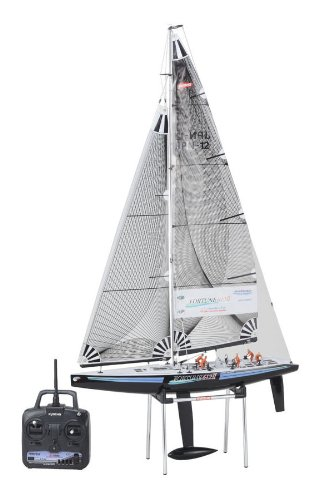 Kyosho Fortune 612 II 24Ghz Ready-To-Sail RC Sailboat wBlack Hull