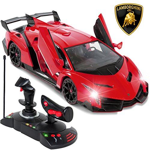 Best Choice Products 114 Scale RC Lamborghini Veneno Gravity Sensor Remote Control Car Red
