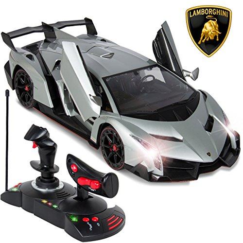 Best Choice Products 114 Scale RC Lamborghini Veneno Gravity Sensor Remote Control Car Silver