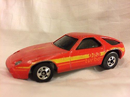 Hot Wheels Porsche 928 Red 1982 Hong Kong Loose Vintage Collectible Toy Car