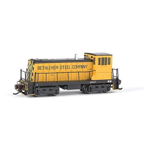 Bachmann Industries GE 70 Tons DCC Equipped Diesel Switcher Bethlehem Steel Train N Scale YellowBlack