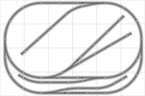 Train Layout 021 Bachmann HO EZ Track Nickel Silver - 4 X 6 - Train Set