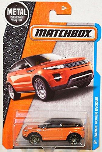 EVOQUE Matchbox 2016 Metal Series Orange Range Rover Evoque 164 Scale Collectible Die Cast Metal Toy Car Models 27125