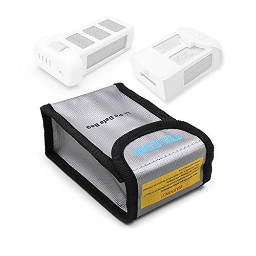 TELESIN Lipo Safety Guard Fire Resistant Lipo Battery Safe Bag for DJI Phantom 3 Phantom 4 Battery Charging Storage