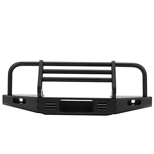 Dilwe RC Car Front Bumper Metal Front Bumper Accessory Parts Compatible with TRX4 SCX10 90046 90047 RC CarBlack