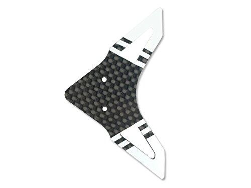 Microheli Carbon Fiber Horizontal Fin WHITE - BLADE 300 CFX