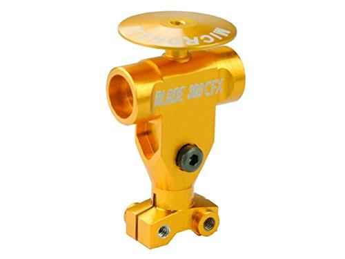 Microheli Precision CNC AL Main Rotor Hub w Button GOLD - BLADE 300 CFX