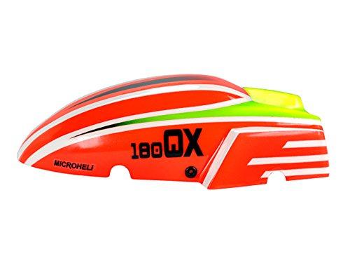 Microheli Airbrush Fiberglass Red Racing Canopy - 180QXHD