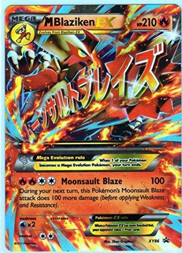 Jumbo MegaM Blaziken EX Pokemon Card Promo XY-86 Oversized 6 x 8-Inch