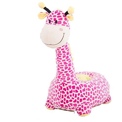 Dresslove Children PP Cotton Plush Cartoon Toys Sofa animal Chairs for New Year Gift Giraffe 1