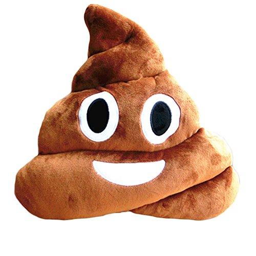 Topbeu Emoji Poop Shaped Stuffed Pillow Cushion Smiley Face Toy Sofa Decoration
