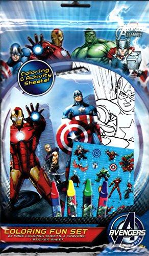 Marvel Avengers Coloring Fun Set