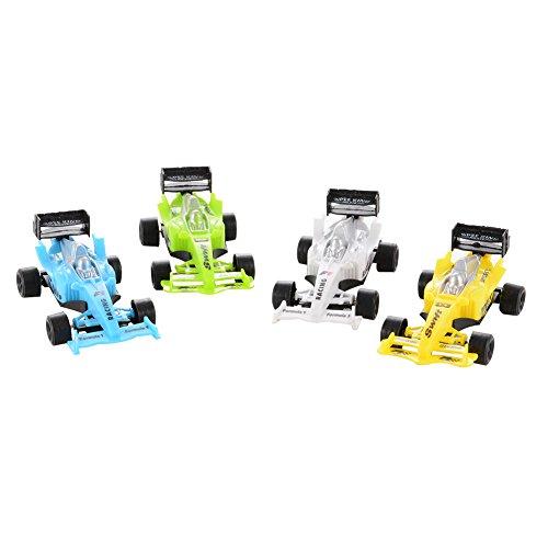 Geefia 4 Pieces Mini Racing Car Playset Pull Back Car Toys Vehicles Playset