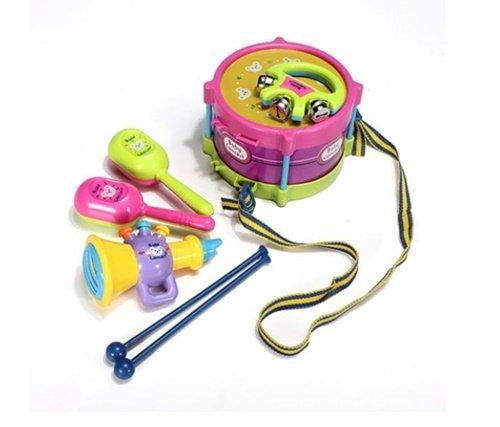 OrchridVilla 5pcs Baby Roll Drum Musical Instruments Kids Drum Set Children ToyKidibeat