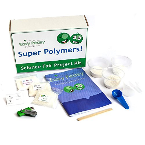 Beginner Easy Peasy Science Fair Project Kit - Super Polymers - Top Science Learning Kit
