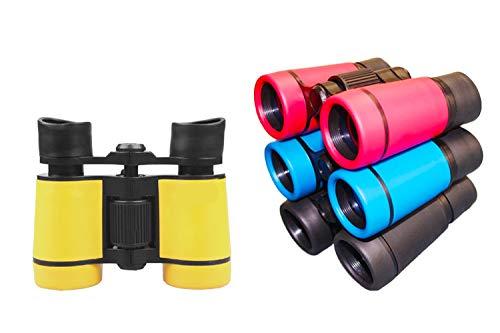 LUCKSTAR 4X30 Plastic Folding Binoculars Telescope Gift Toy Binoculars Party Favors for Kids Outdoor 1 Set of 4 Pcs