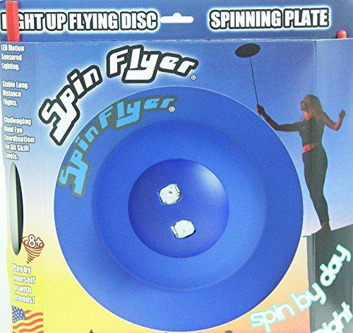Spin Flyer Spinning PlateDisc - Lights Up with LED Motion Sensors Blue