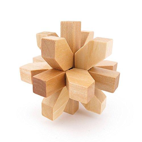 1x Wisdom Logic Mind Challenge Brainteaser Scientific IQ Puzzle Toys Disentanglement Game WY2233 Plum Flower Kong Ming Lock