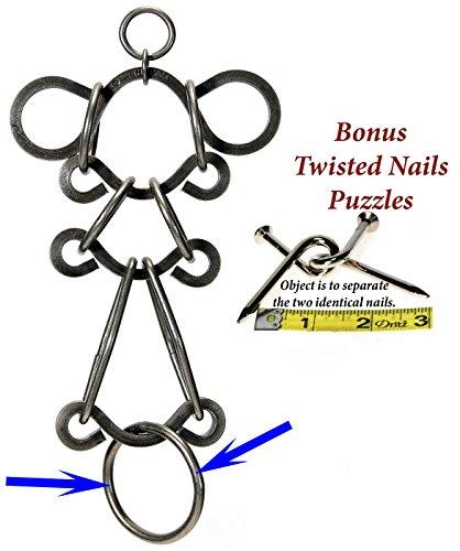 BIG SHOT _ Tavern Puzzles Heavy Metal Disentanglement-Style Brain Teaser _ BONUS Twisted Nails Puzzle