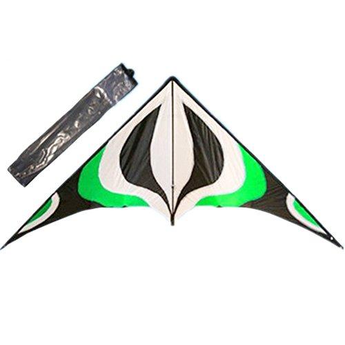 Babyeden Green Sport Prism Delta Dual-Line Stunt Kite 84-Inch