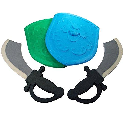 TukTek Kids First Pretend Foam Toy Sword Shield Set of 2