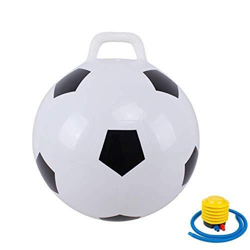 Kaptin Hopper BallHoppity HopJumping BallSit and BounceBouncy Ball with HandlesKids Balance Ball for Children Age 3-6Air Pump Included