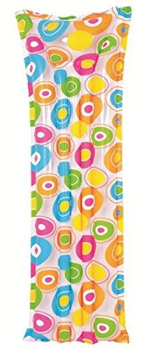 72 Colorful Circle Print Inflatable Air Mattress Swimming Pool Raft Float