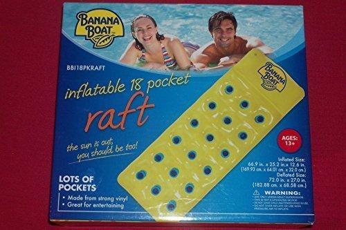 BANANA BOAT INFLATABLE 18 POCKET RAFT FLOAT BEACH POOL WATER