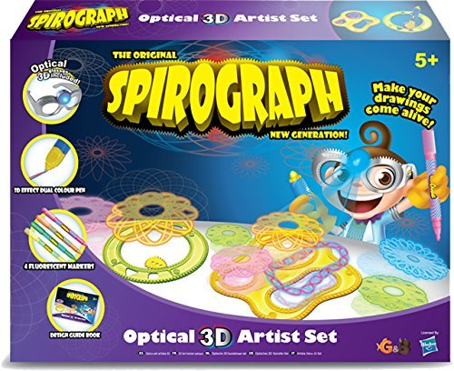 The Original Spirograph New Generation Spirograph Optical 3D Artist Set by Spirograph