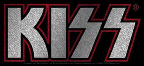 Licenses Products Kiss Logo Glitter Sticker