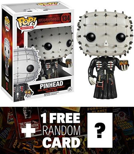 Pinhead Funko POP Movies x Hellraiser Vinyl Figure  1 FREE classic Horror Sci-fi Movies Trading Card Bundle 47856