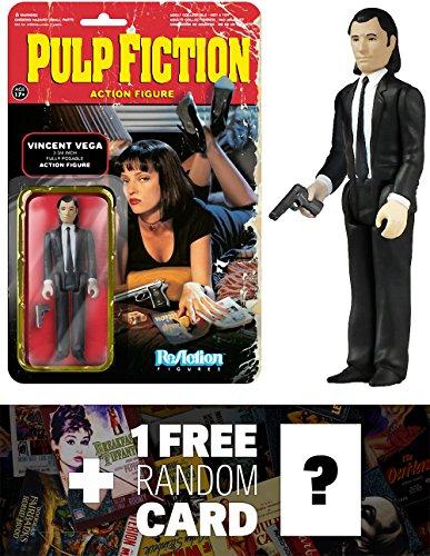 Vincent Vega Funko ReAction x Pulp Fiction Action Figure  1 FREE Classic Movie Trading Card Bundle 040826