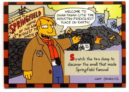 Simpsons Skybox Trading Card Smell-O-Rama 2