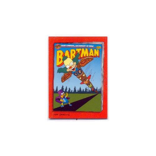 The Simpsons Skybox Bartman Trading Card Camp Krustys Krazy Daze B6