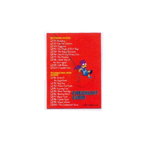 The Simpsons Skybox Bartman Trading Card Checklist Card B10