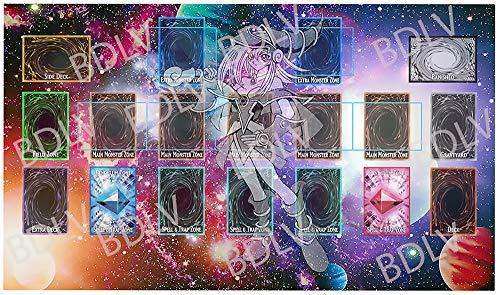 BDLV - YuGiOh Playmat Custom Playmat Master Rule 4 Link Zones Custom Playmat Dark Magician Girl - MTG TCG YuGiOh Vanguard Playmat