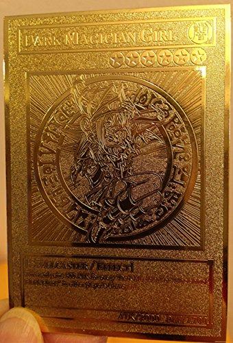 English Dark Magician Girl Yugioh Custom Metal Card Limited Golden Card New