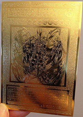 Japanese D-HERO Bloo-D Yugioh Custom Made Golden Metal Card