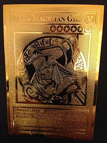 USA Seller Yugioh Dark Magician Girl English Golden Metal Card Custom Made